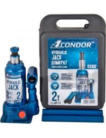 CONDOR Домкрат гидравлический, 2т. (пластиковая упаковка)
