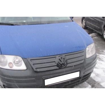 Зимняя накладка Volkswagen Caddy 2004-2010 (верх решетка), Глянец