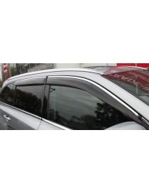 Дефлекторы окон (ветровики) Mercedes-Benz GL-klasse X-166 2013-> С Хром Молдингом