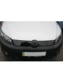 Зимняя накладка Volkswagen Caddy 2010- (верх решетка), Глянец