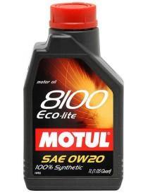 Моторное масло Motul ECO-LITE 8100 0W-20 1 л.