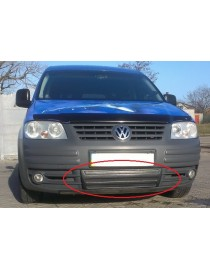Зимняя накладка (матовая) Volkswagen Caddy 2004-2010 (низ решетка)