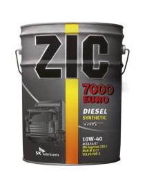 Масло моторное ZIC 7000 EURO 10W-40 (Бочка 20л)