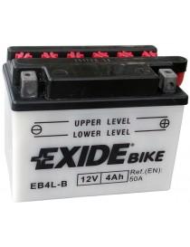 Аккумулятор 4Ah-12v Exide (EB4L-B) (120х70х92) R, EN50