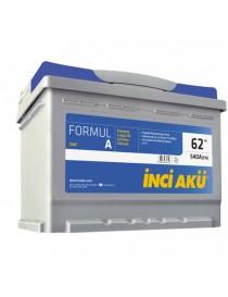 Аккумулятор 62Ah-12v INCI AKU FormulA (242х175х190), R, EN 540