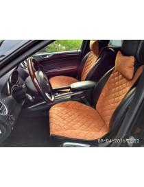 Накидки на передние сидения Premium бежевые