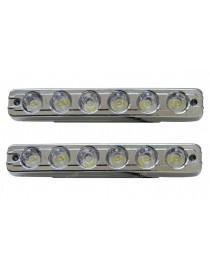 Ходовые огни универсальные SKD-010 линзованные, с функцией поворотов и притухания