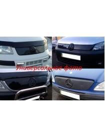 Зимняя накладка Volkswagen Caddy 2004-2010 (низ решетка), Глянец