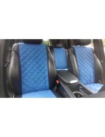 Накидки на передние сидения Premium синие