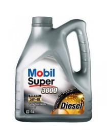 Масло моторное MOBIL SUPER 3000 Diesel 5W-40 API CF (Канистр 4л)