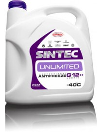 Антифриз Sintec ANTIFREEZE UNLIMITED G12 + + красно-фiолетов. (Канистра 1л)