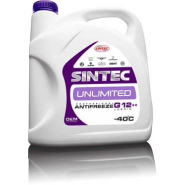 Антифриз Sintec ANTIFREEZE UNLIMITED G12 + + красно-фiолетов. (Канистра 1л)