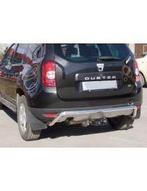 Защита задняя Dacia/Renault Duster 2010+ /изогнутая