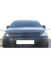 Зимняя накладка (матовая) Volkswagen Caddy 2010- (верх решетка)