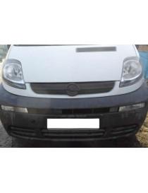 Зимняя накладка (матовая) Opel Vivaro 2001-2006 (решетка)