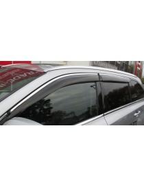 Дефлекторы окон (ветровики) Volvo XC90 2003 -> 4дв Хром молдинг