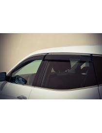 Дефлектора окон (ветровики) Hyundai Santa Fe 2012 - Хром Молдингом