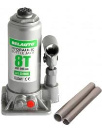 БЕЛАВТО Домкрат гидравлический (бутылочный), 8т, высота подйома 200-385 мм